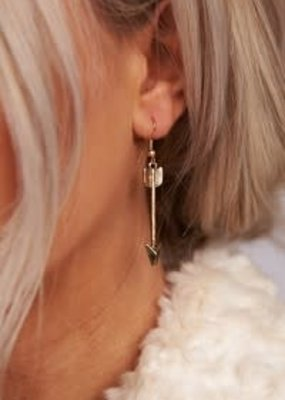 Boholove Gold Arrow Earrings