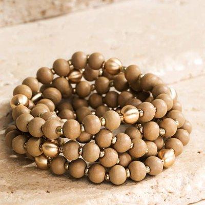 urbanista Wood Bead Bracelet Set