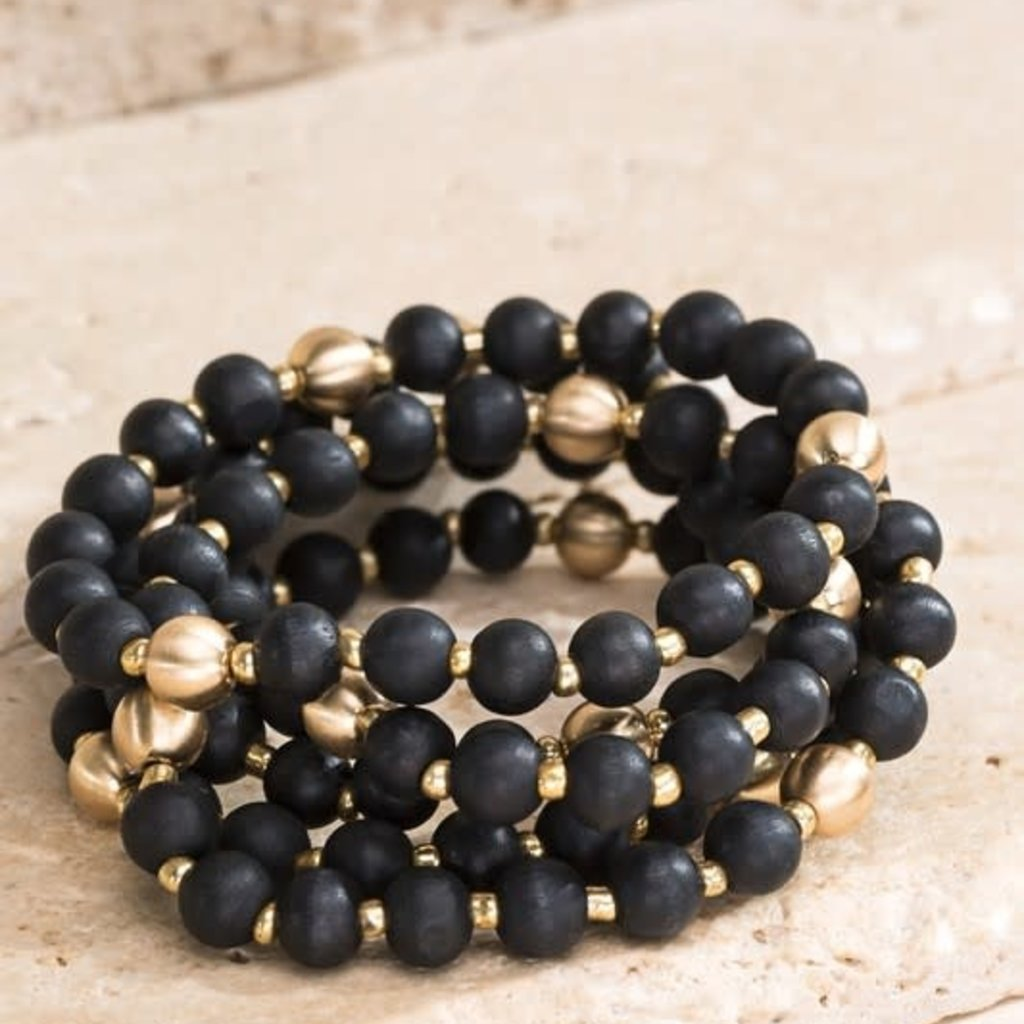 urbanista Wood Bead Bracelet Set