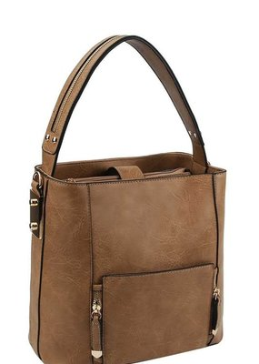 Applejuice Tan Satchel Handbag