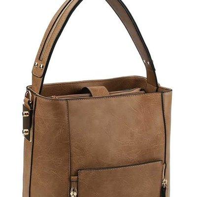 Applejuice Tan Satchel Handbag