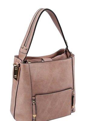 Mauve Satchel Handbag