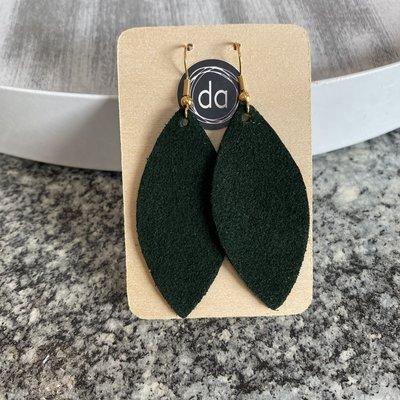 Deer Addie Deer Addie Dark Green Suede Leather Earring