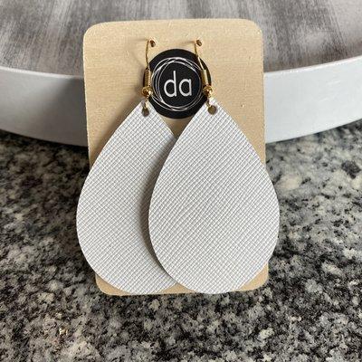 Deer Addie Deer Addie White Leather Earrings