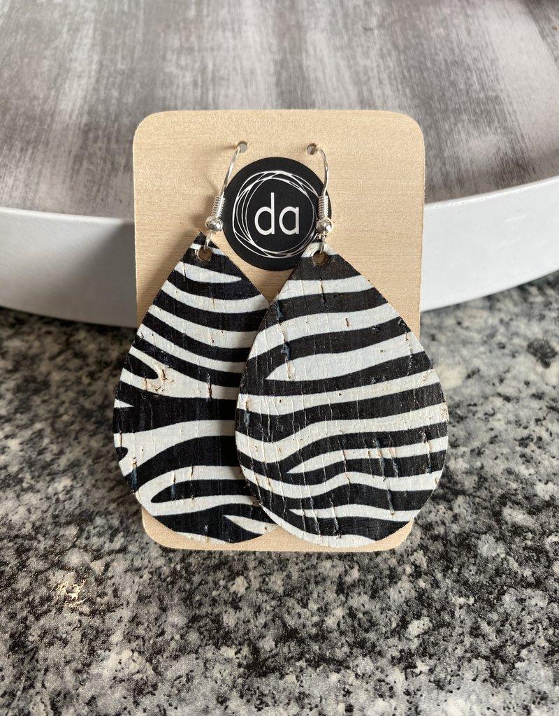 Deer Addie Deer Addie Zebra Leather Earrings