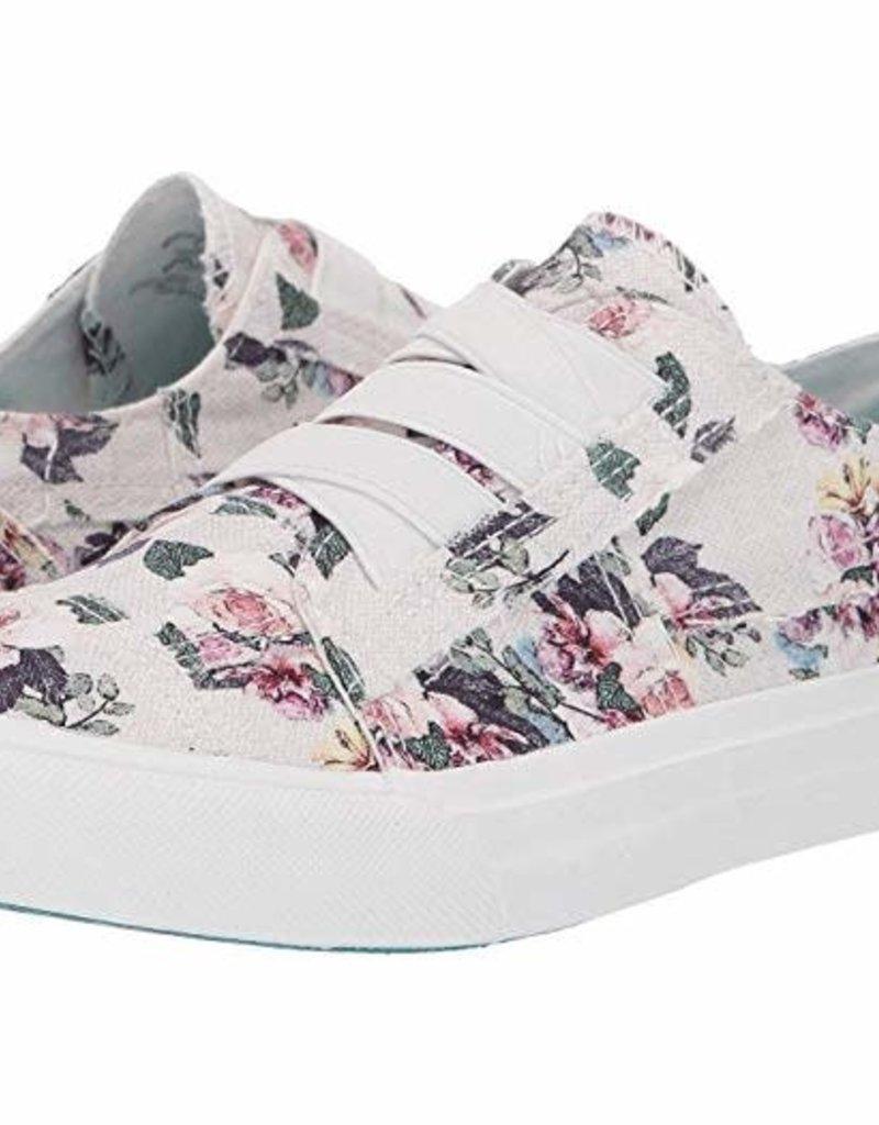 Blowfish Blowfish Off White Bella Print Canvas Sneakers