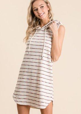 Vanilla Bay Sleeveless Pullover Hoodie Dress