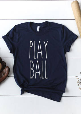 LTB Play Ball Navy *V-NECK* Tee (S-3XL)