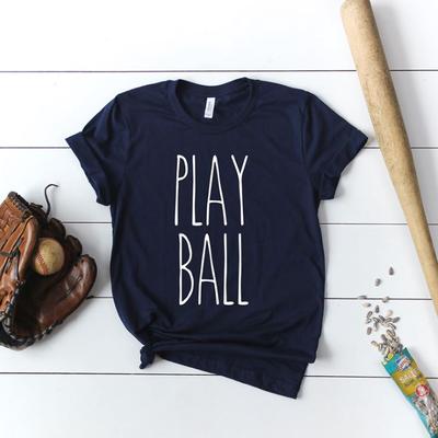 LTB Play Ball Navy *V-NECK* Tee (S-3XL)