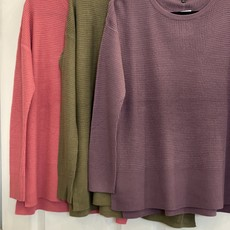 Staccato Solid Basic Waffle Knit Top