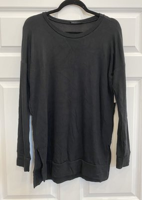 Shop Basic USA Long Sleeve French Terry Basic Top - Black