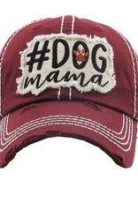 #Dog Mama Vintage Hat Burgundy