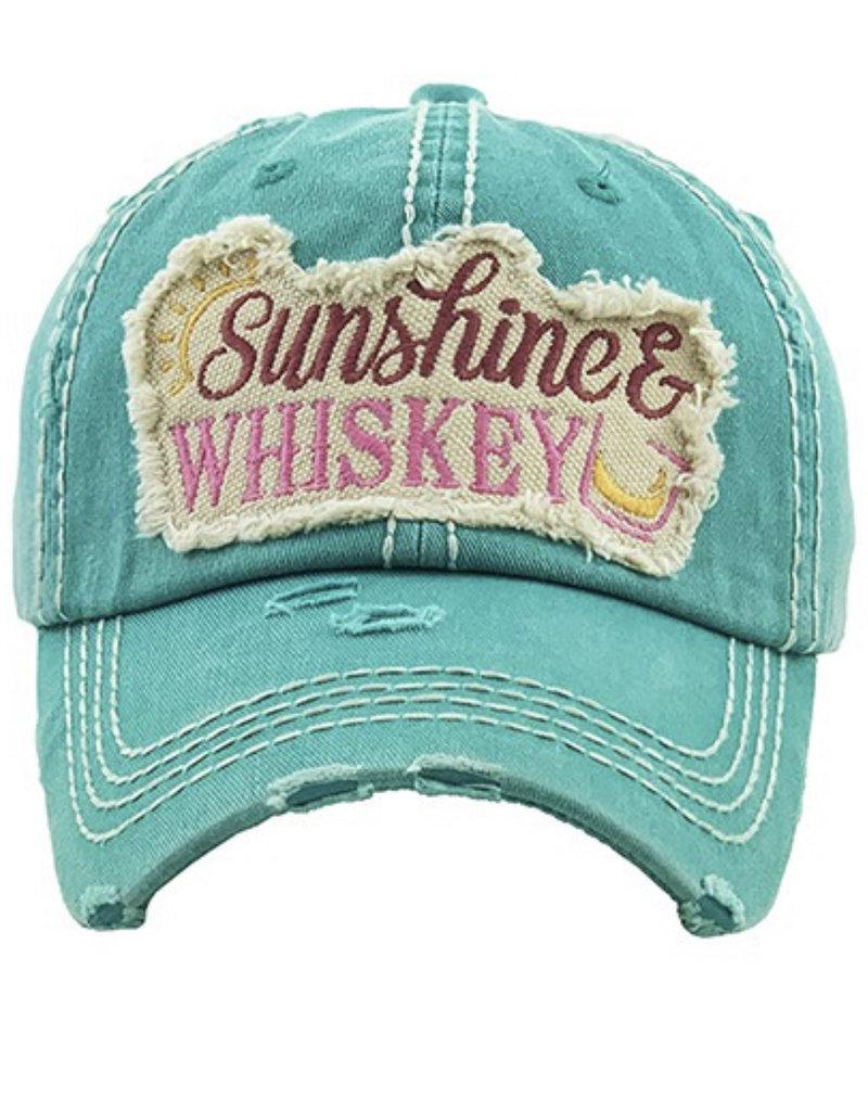Sunshine & Whiskey Vintage Hat Teal