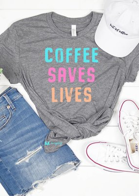 Mugsby Coffee Saves Lives Tee