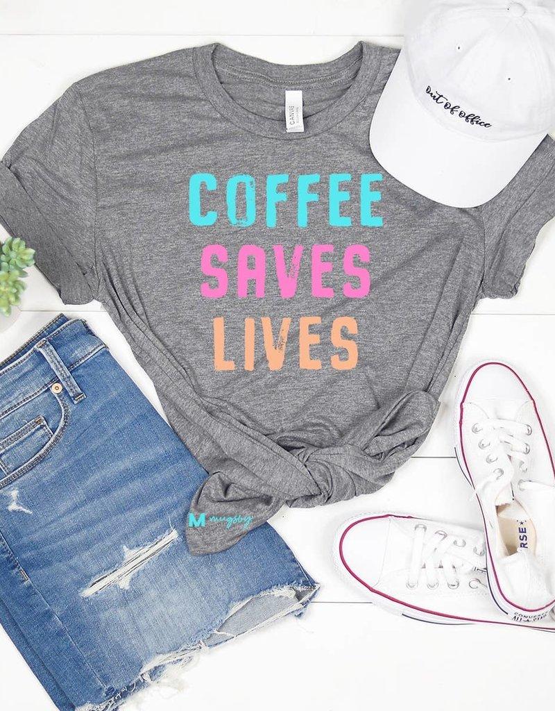 Mugsby Coffee Saves Lives Tee