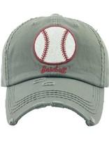 Too Too Hat Glitter Baseball Gray Hat