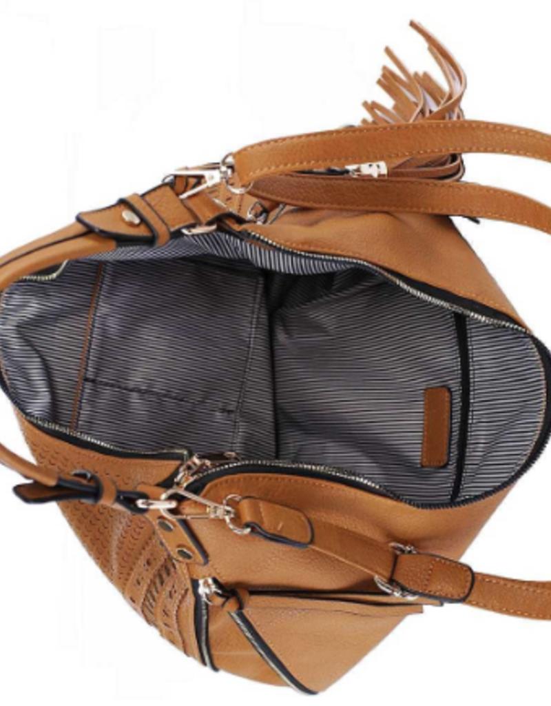 Applejuice Vegan Leather Expandable Hobo Bag (Khaki or Tan)