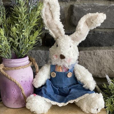 Mullberry Sitting Bunny In Blue Jeans