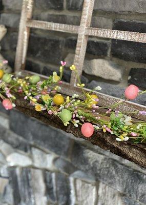 Mullberry Pastel Berries & Eggs Garland