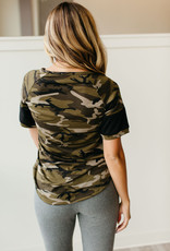 AMPERSAND AVE Camo Track Sleeve Tee - Ampersand Ave (S-3XL)