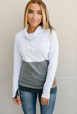 AMPERSAND AVE Monochrome Cowl Neck - Ampersand Ave (L-3XL)
