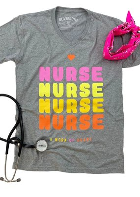 LTB Grey Nurse *Work of Heart* Tee (S-2XL) ~ PLUS $10 code for next purchase!