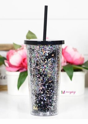 Mugsby Black Glitter Tumbler - 20 oz