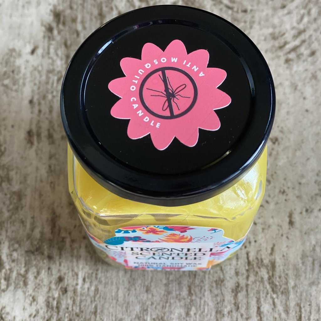 Bella Candle Factory Yellow Citronella Bug Repel Candle
