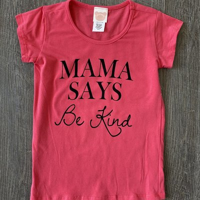 Color Bear Mama Says Be Kind- Baseball Tee