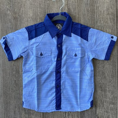 Toby Kids Boys Navy Button Down Top