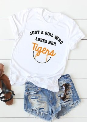 Kissed Apparel Loves Her Tigers Tee (S-XL)