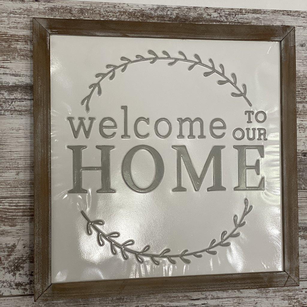Pd Home & Garden Welcome Home Tin Sign