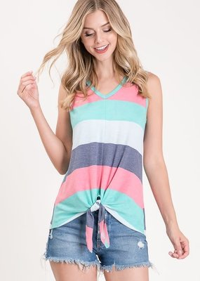 Heimish USA Multi Color Stripe Tank (S-3XL)