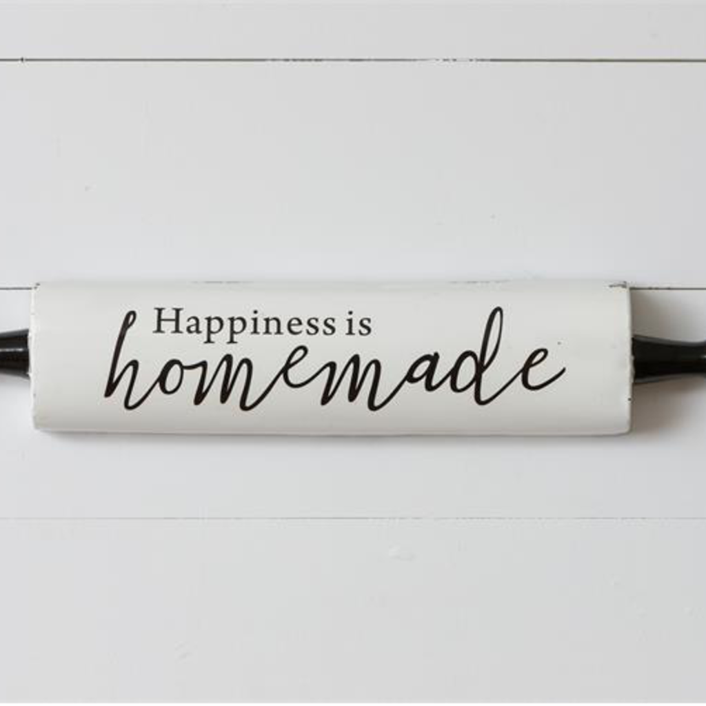 Audrey's Rolling Pin Sign - Happiness is Homemade