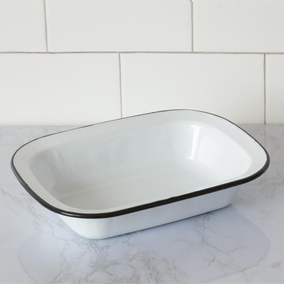 Audrey's Rectangle Enamel Bowl