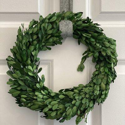 "Home & Garden 12"" Preserved Boxwood Wreath"
