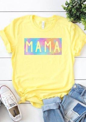 Kissed Apparel Yellow Mama Watercolor Tee (S-3XL)