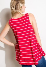Clothing of America Red Stripe Jersey Tank (S-3XL)