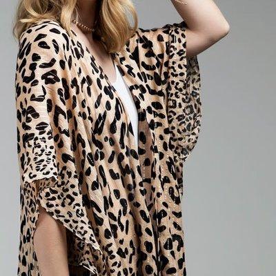 urbanista Leopard Metallic Kimono