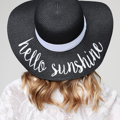 urbanista Hello Sunshine Sun Hat - Black
