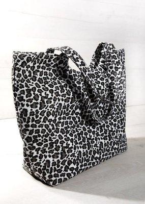 urbanista Leopard Print Tote Bag - Gray