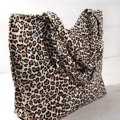 urbanista Leopard Print Tote Bag - Brown