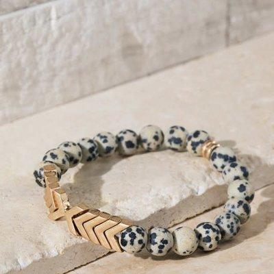 urbanista Dalmatian Chevron & Stone Bracelet