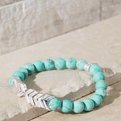 urbanista Turquoise Chevron & Stone Bracelet