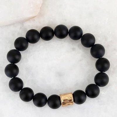 urbanista Black Stone with Metallic Accent Bracelet