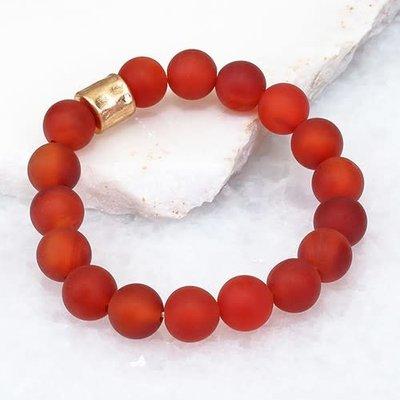 urbanista Red Stone with Metallic Accent Bracelet