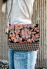 Panache Stitched Floral Crossbody Bag