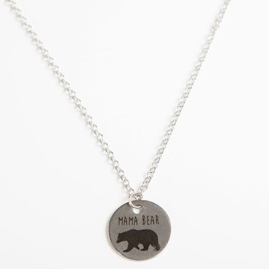 Panache Mama Bear Circle Pendant Necklace
