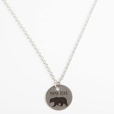 Panache Mama Bear Circle Pendant Necklace