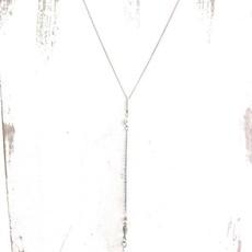 Panache Long Silver Brass Necklace
